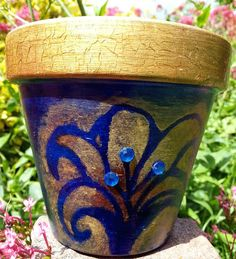 Country View Crafts' Projects: Pots of stencilling fun - Amanda