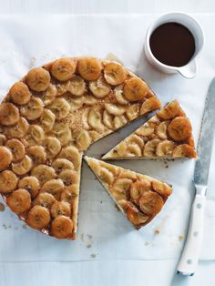 banana upside-down cake from donna hay