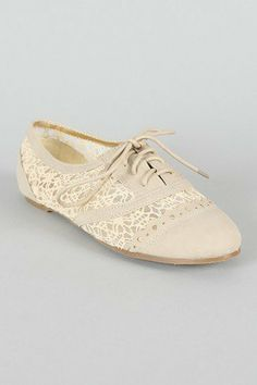 inugal96's save of Misbehave Messina-19 Lace Oxford Flat on Wanelo