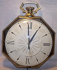 Online Antique and Collectibles Mall - over a half-million vintage antiques and collectible items for sale on-line. Pendant Watch, Vintage Pocket Watch, Pocket Watches, Vintage Watches, Luxury Watches, Clocks, Mid Century, Antiques, Metal