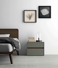 Bedside table / contemporary / oak / residential ZIP  Dall'Agnese Industria Mobili
