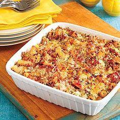 Baked Ziti with Turkey and Pesto Recipe | MyRecipes.com