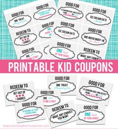 free printable kid coupons :)