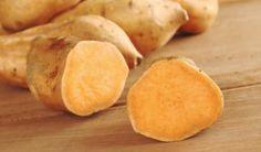 Süßkartoffelsuppe mit Orangensaft und Paprika