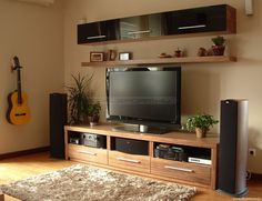 Styleform.hu - Nappali bútor Wooden Tv Stands, Tv Unit Design, Tv Cabinets, Media Center, Diy And Crafts, Sweet Home, Rak Tv, Living Room, Tv Walls