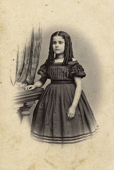 """1863 REBECCA HUGER, 11 yrs old, a Slave in Her Fathers House. In appearance she is white. No trace of Negro blood. Her Grandmother & Mother Lived in New Orleans and were """"Intelligent MULATTOS""""."""