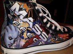 Mass Effect Comic Book High Top Converse shoes....oh if only I was made of money