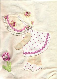 baby sunbonnet sue site, babi sunbonnet, apliqu, old quilt patterns, quilt inspir, sunbonnet sue, baby quilts applique, girl quilt, quilt block sue