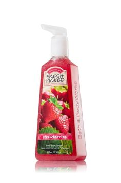 Fresh Picked Strawberries Deep Cleansing Hand Soap - Anti-Bacterial - Bath & Body Works