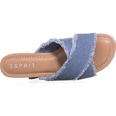 Esprit Francis CrissCross Flat Sandals, Light Blue    #sandals #flats #slides #blue #denim #spring #springoutfits #summeroutfits #casualsummeroutfits #shoes #shopping #style #trending #fashion #womensfashion Blue Sandals, Women's Sandals, Flats, Casual Summer Outfits, Spring Outfits, Trending Fashion, Fashion Trends, Spring Step, Criss Cross