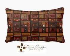 ✄ PATRON PUNTO CRUZ  Cojin Africano III Largo  Medidas a Convenir  Para bordar con lanas delgadas en esterilla delgada. http://puntocruzandino.weebly.com/