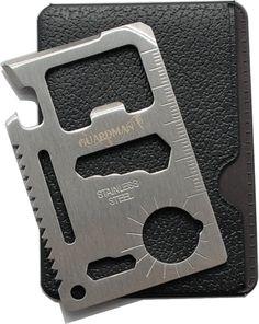 Guardman 11 in 1 Beer Opener Survival Card Tool Fits Perfect in Your Wallet (1)…