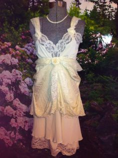 Christmas+Fairy+Gypsy+Slip+Dress+Boho+Dress+Tattered+by+Intrigues,+$389.97