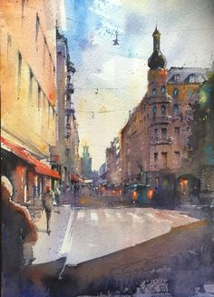 View from Kungsholmen (Stockholm) Stockholm, Watercolor, Drawings, Painting, Art, Watercolor Painting, Painting Art, Sketch, Paintings