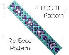 Flower beaded bracelet pattern