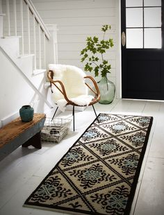 - Coins et recoins - Décoration salon / Living-room - deco Nordic style - La… Interior Exterior, Home Interior, Interior Decorating, Interior Design, Bohemian Interior, Entry Foyer, Entryway Decor, Modern Entryway, Entrance Rug