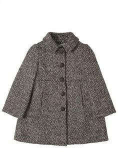 Herringbone Wool Tweed Coat on shopstyle.com