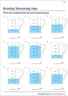 Utilize our free printable worksheets to solidify students' knowledge in measuring jugs which are available in varying scales. Measurement Worksheets, Cut And Paste Worksheets, Science Worksheets, Free Printable Worksheets, Body Parts Preschool, Hidden Picture Puzzles, Cycle 2, Hidden Pictures, Third Grade Math