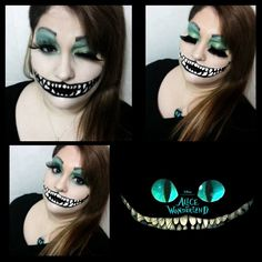 fantasy makeup alice in wonderland  Tim Burton  Cheshire Cat