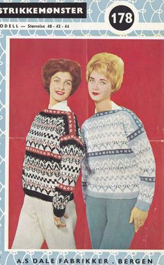 Dale 178 Vintage Knitting, Hand Knitting, Knitting Patterns, Norwegian Knitting, Christmas Sweaters, Knitwear, Knit Crochet, Retro, Jumpers