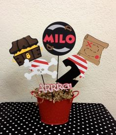 Pirate Birthday Party Centerpiece or Baby shower by TheGirlNXTdoor, $18.00