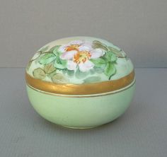Vintage Hand Painted and Signed Green by DelectablyVintage on Etsy, $8.99