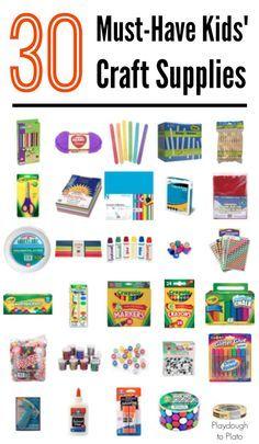 30 Must Have Kids Craft Supplies