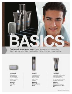 Basic Skin Care for Men because it's not just for women anymore ;) Contact your consultant today to find out more about Men's Skin Care! No Consultant? Contact me: www.marykay.com/valeriedusing  Stay Handsome!