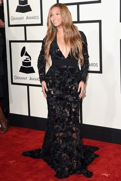 Beyonce in Proenza Schouler on the Red Carpet at the 2015 Grammy Awards [Photo by Getty Images]