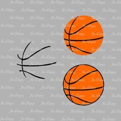 Basketball SVG DXF EPS, basketball svg, svg cutting file for Cricut Silhouette, basketball svg design, basketball files, svg files, cricut - pinned by pin4etsy.com