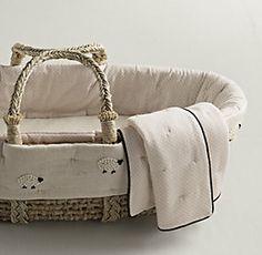 Moses Basket & Bassinet Bedding   Restoration Hardware Baby & Child
