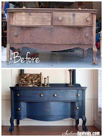DIY:  Dresser Tutorial - damaged dresser gets a facelift.