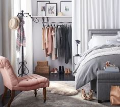 New York Closet Clothes Rack Potterybarn Building My