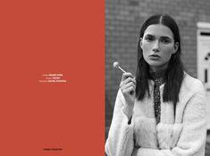 Stories Collective / Love me two times babe / Photography Daniel Fraser / Styling Natasha Heasman / Make up & Hair Gigi Hammond / Model Hannah Cassidy at Storm / Design Miriam R. Seoane #love #fashion #editorial #photography #road #layout