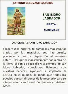 San Isidro, patrono de los agricultores.