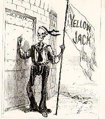 "Yellow Jack flag: yellow fever. ""Yellow Jack"", in Cornhill Magazine, 1892."