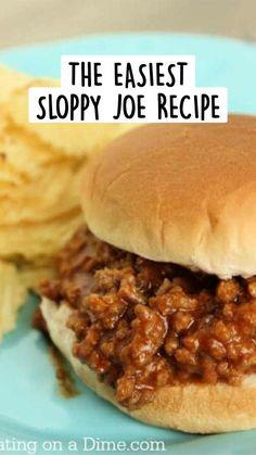 Homemade Sloppy Joe Mix, Best Sloppy Joe Recipe, Sloppy Joes Recipe, Manwich Sloppy Joe, Turkey Sloppy Joes, Slow Cooker Sloppy Joes, Homemade Manwich, Homemade Sauce, Healthy Sloppy Joes