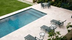 Ocean & Merchant's Campo Verde Pool Paving, Outdoor Spaces, Outdoor Decor, Patio, Pool Houses, Dream Vacations, Tiny House, Swimming Pools, Sweet Home