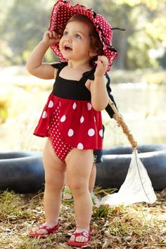 Such a cute little girl's swim suit from Gymboree