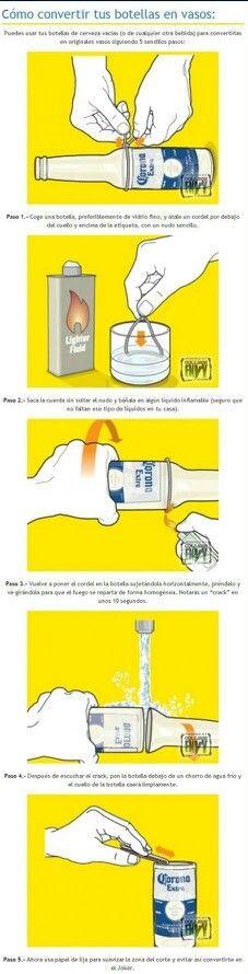 Como hacer vasos con botellas
