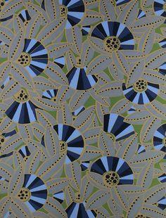 Papier peint à motif / de style Art Nouveau - EVENTAILS STEPHANY - 1809 - ATELIER DOFFARD