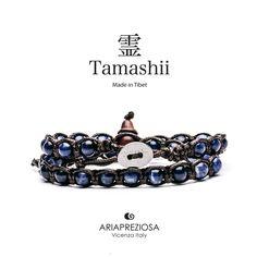 Tamashii - Bracciale Lungo Tradizionale Tibetano 2 giri Sodalite