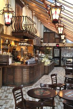 Italian coffee shop ---  beautiful shop --       <3 the lights