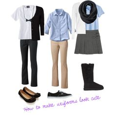 Helpful tips--How to make uniforms look cute
