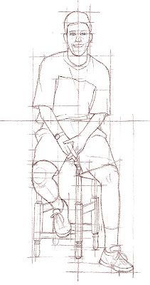 how to seated figure drawing - Google Search