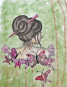 Caran D'Ache watercolor crayons, Gelatos, Inktense pencils, Dr. Martin watercolors.