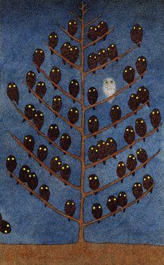 Illustration By: Hiromi Nishizaka Owl Art, Bird Art, Owl Always Love You, Arte Popular, Illustrators, Art Photography, Illustration Art, Art Journals, Birds