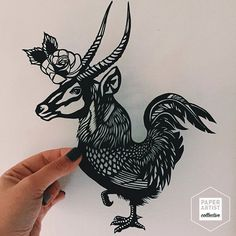 Antelope + rooster = ❤️ This astonishing paper cut is one of Paige's (@pzimm14) own favorites! We just love the creative combination of the animals and the beautiful, intricate details. If you havent allready you should go take a look @pzimm14! Paige will also have her work in the Oslo POP UP event in November!