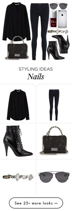 """""""Style #9219"""" by vany-alvarado on Polyvore featuring STELLA McCARTNEY, Uniqlo, Christian Dior, Yves Saint Laurent and maurices"""