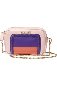 MISSONI Mini Color-Block Leather Shoulder Bag. #missoni #bags #shoulder bags #leather #knit #